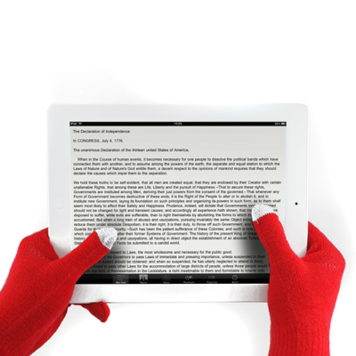 New Red Unisex Touch Screen Knit Gloves Magic Texting Smart Phone Winter Gloves