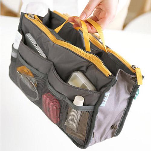 Korean women travel insert handbag organiser purse large - Organizer purses and handbags ...