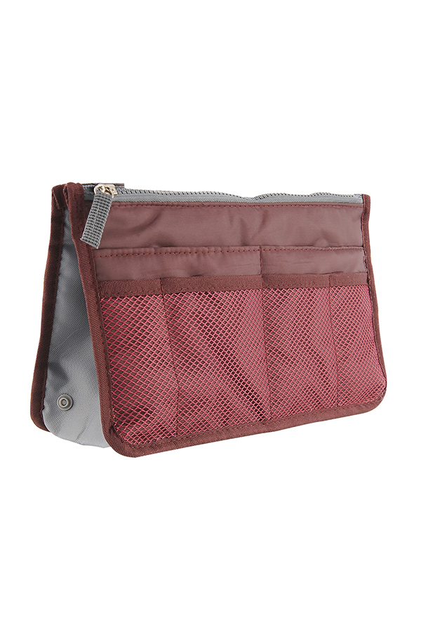 Bag in Bag Smart Insert Organizer Pouch Travel Cosmetic Bag Padded 3color