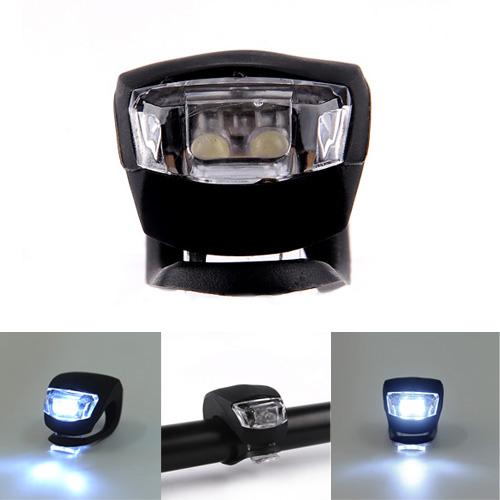 Frog Strobe 1 LED Bike Bicycle Rear Light Headlight Safety  Black/White