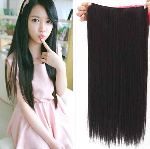 Lady-Girl-Straight-Curly-Wavy-Clip-in-on-Hair-Extension-with-5-Clips