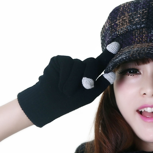 Unisex Touch Screen Knit Gloves Magic Texting for Smart Phone Winter Gloves