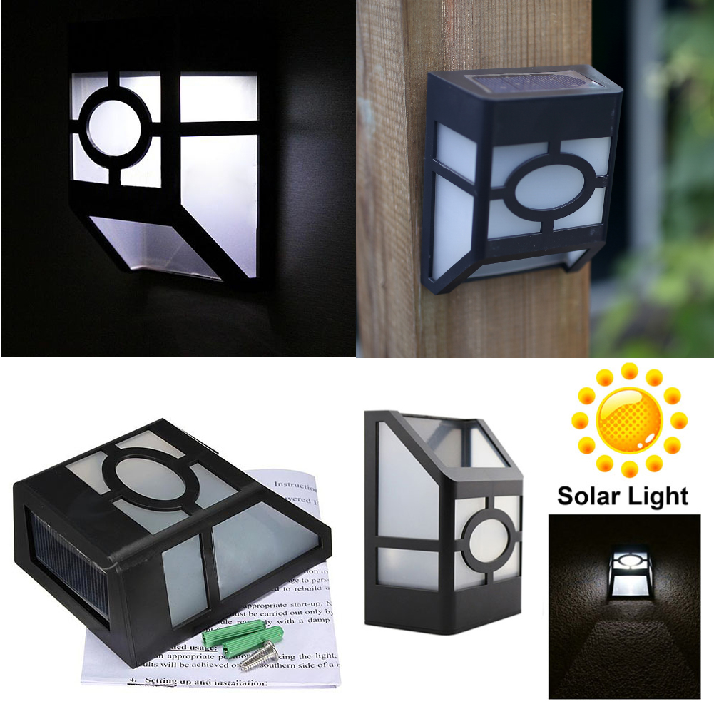 au en solar power led garten zaun wand gosse pfad blumen licht lampe ebay. Black Bedroom Furniture Sets. Home Design Ideas