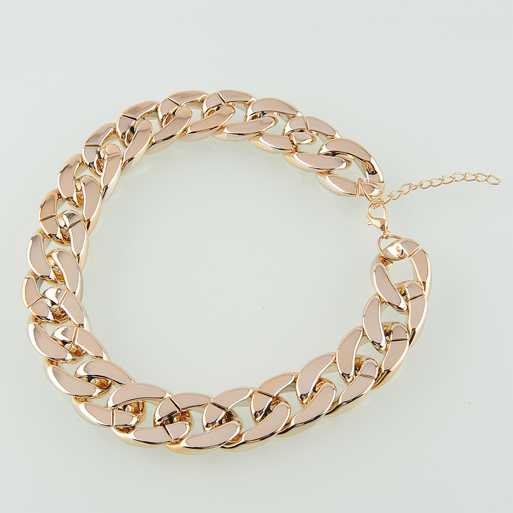 Simple 3 DIY Chunky Thick Chain Ccb Link Necklace Jewelry