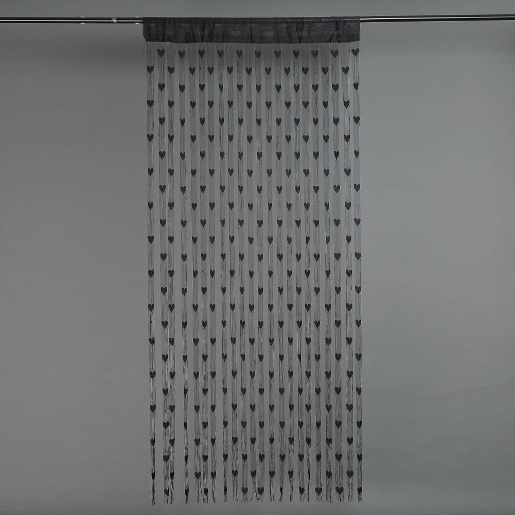 bunt herz linie string quaste gardine portiere f r fenster. Black Bedroom Furniture Sets. Home Design Ideas