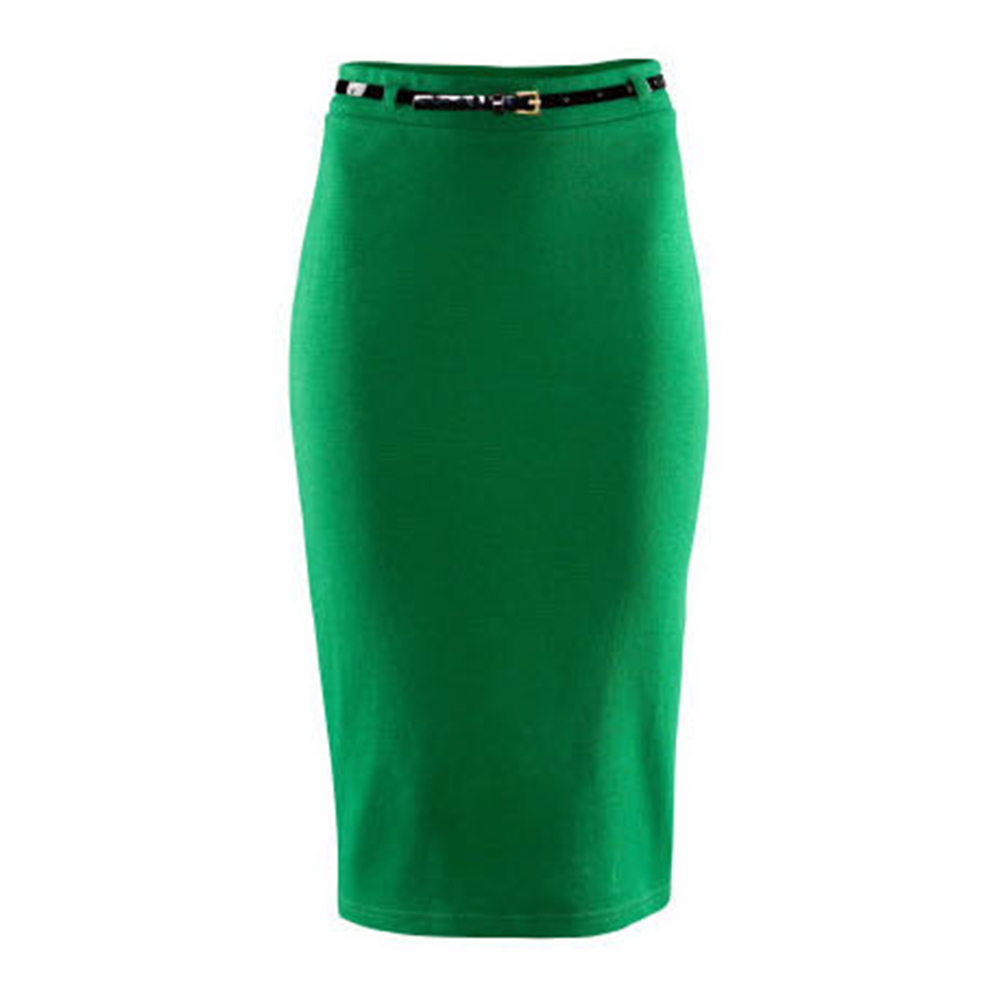 dress office high waisted belted pencil skirt stretch