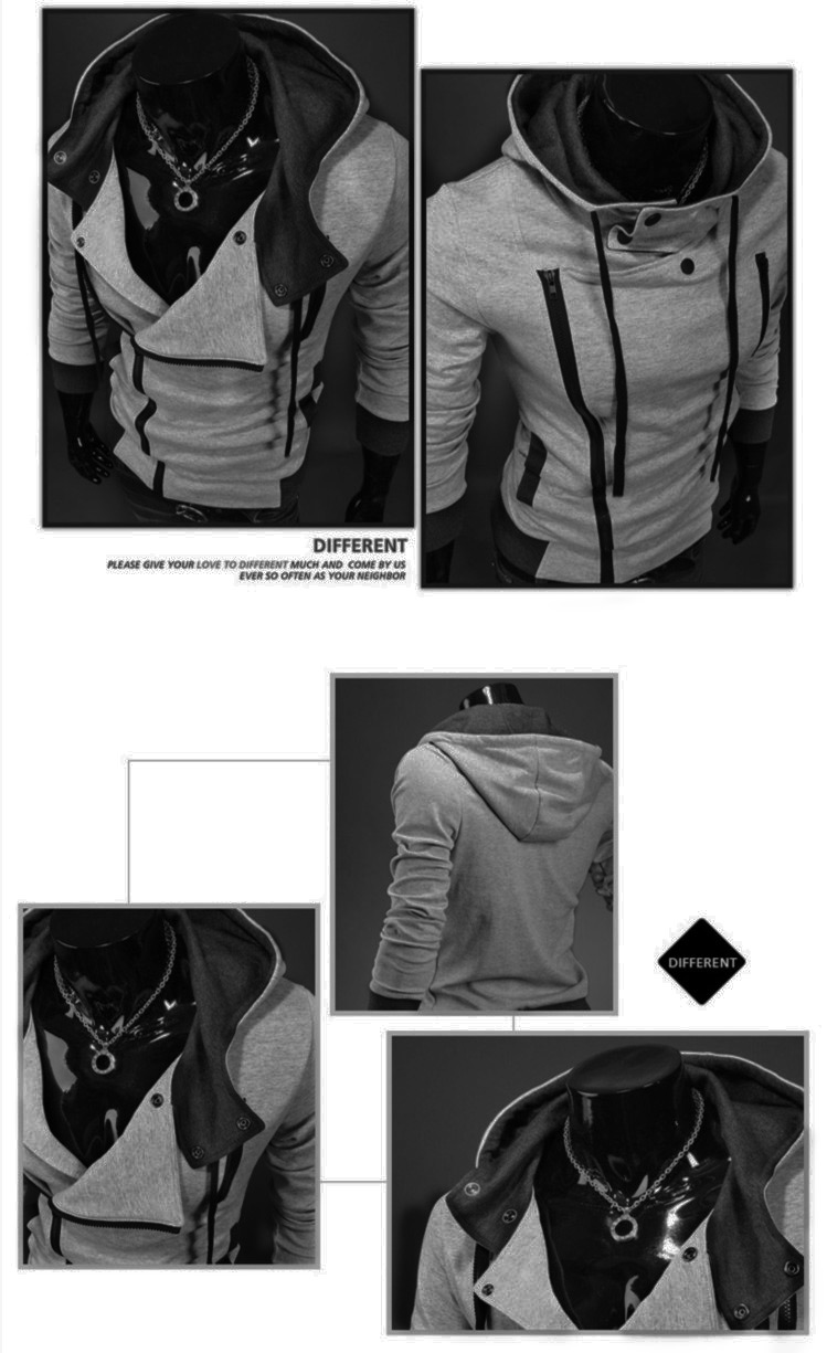 HOT New Assassin Creed 3 Desmond Miles Hoodie Coat Jacket Cosplay Zipper Tops