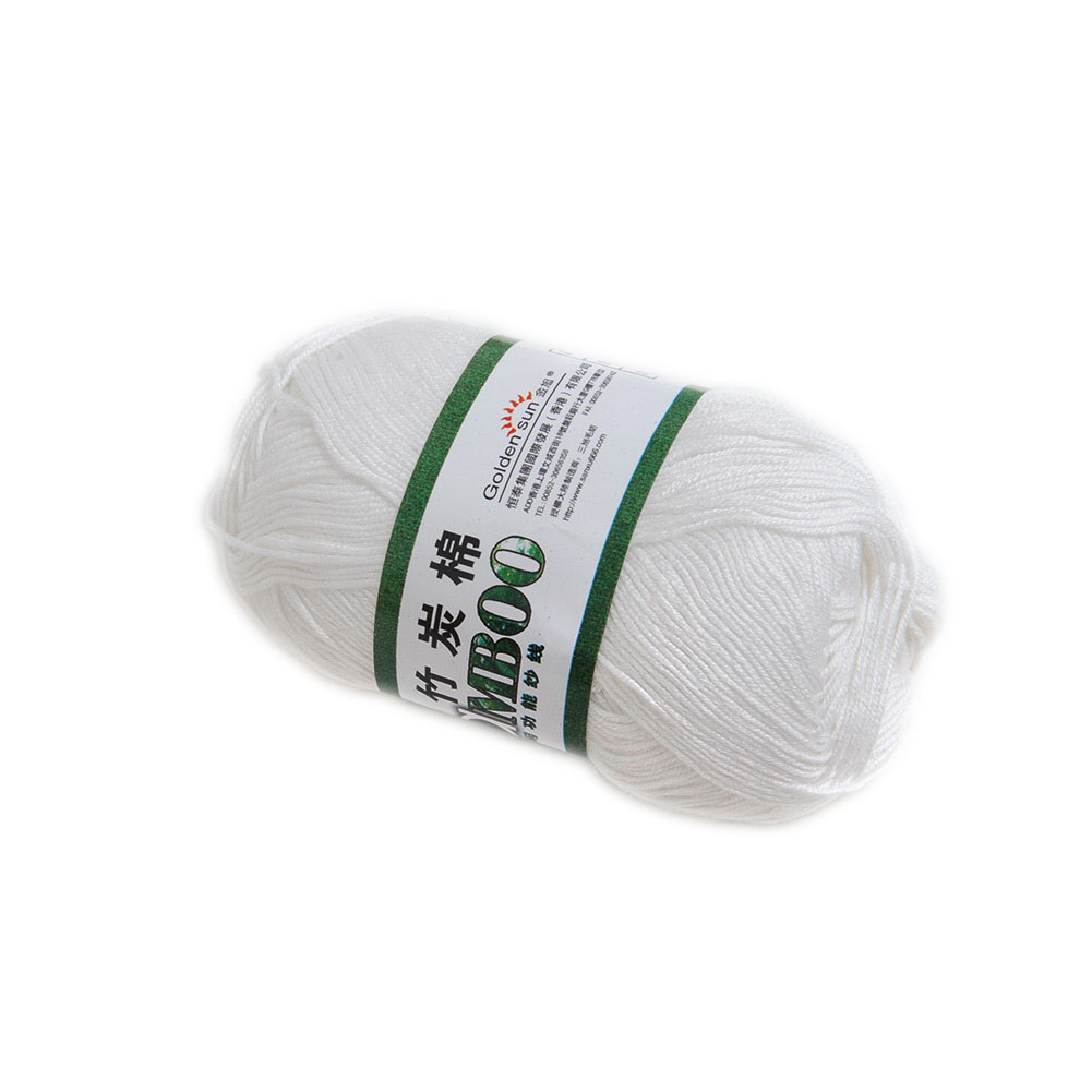 Bamboo Yarn : Bamboo-Cotton-Yarn-Knitting-Yarn-Natural-Smooth-20-Colors-Soft-Baby ...