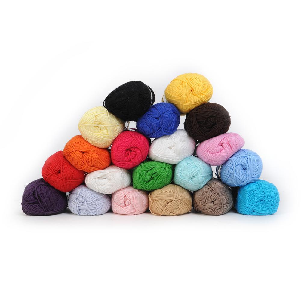 Bamboo-Cotton-Yarn-Knitting-Yarn-Natural-Smooth-20-Colors-Soft-Baby-Yarn