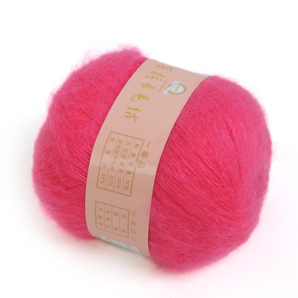 Quality-Wholesale-1pc-Natural-Angola-Mohair-Wool-Knitting-Yarn-Home