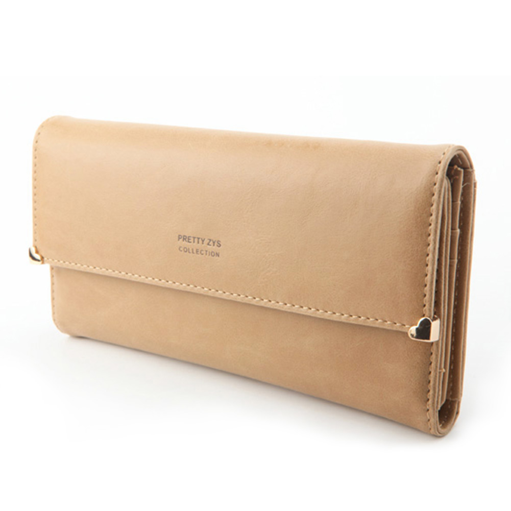 Womens-New-Fashion-Clutch-Matte-Leather-Wallet-Lady-Card-Purse-Girl-Handbag