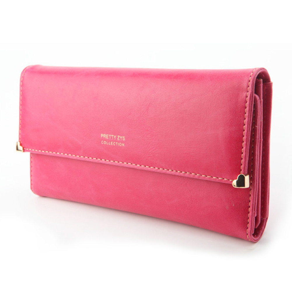 Womens-New-Fashion-Clutch-Matte-Leather-Wallet-Card-Purse-Girl-Handbag