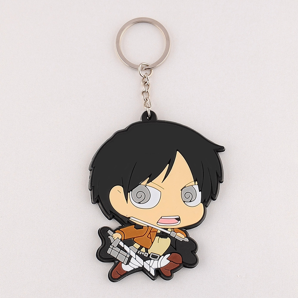 Wedding Ring On Chain Boy Or Girl: New Cute Adorable Attack On Titan Silicone Key Ring Chain