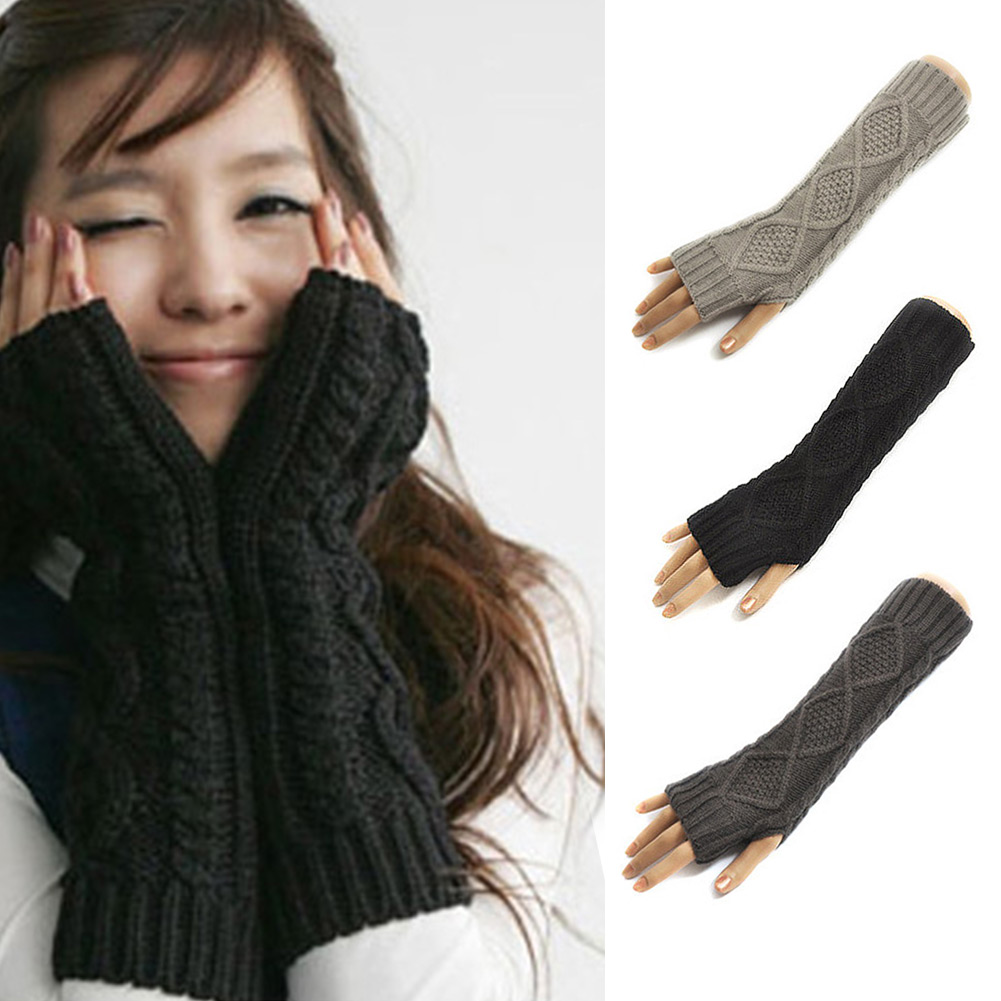 Long-Knitted-Crochet-Wool-Braided-Wrist-Hand-Arm-Warmer-Mitten-Fingerless-Gloves