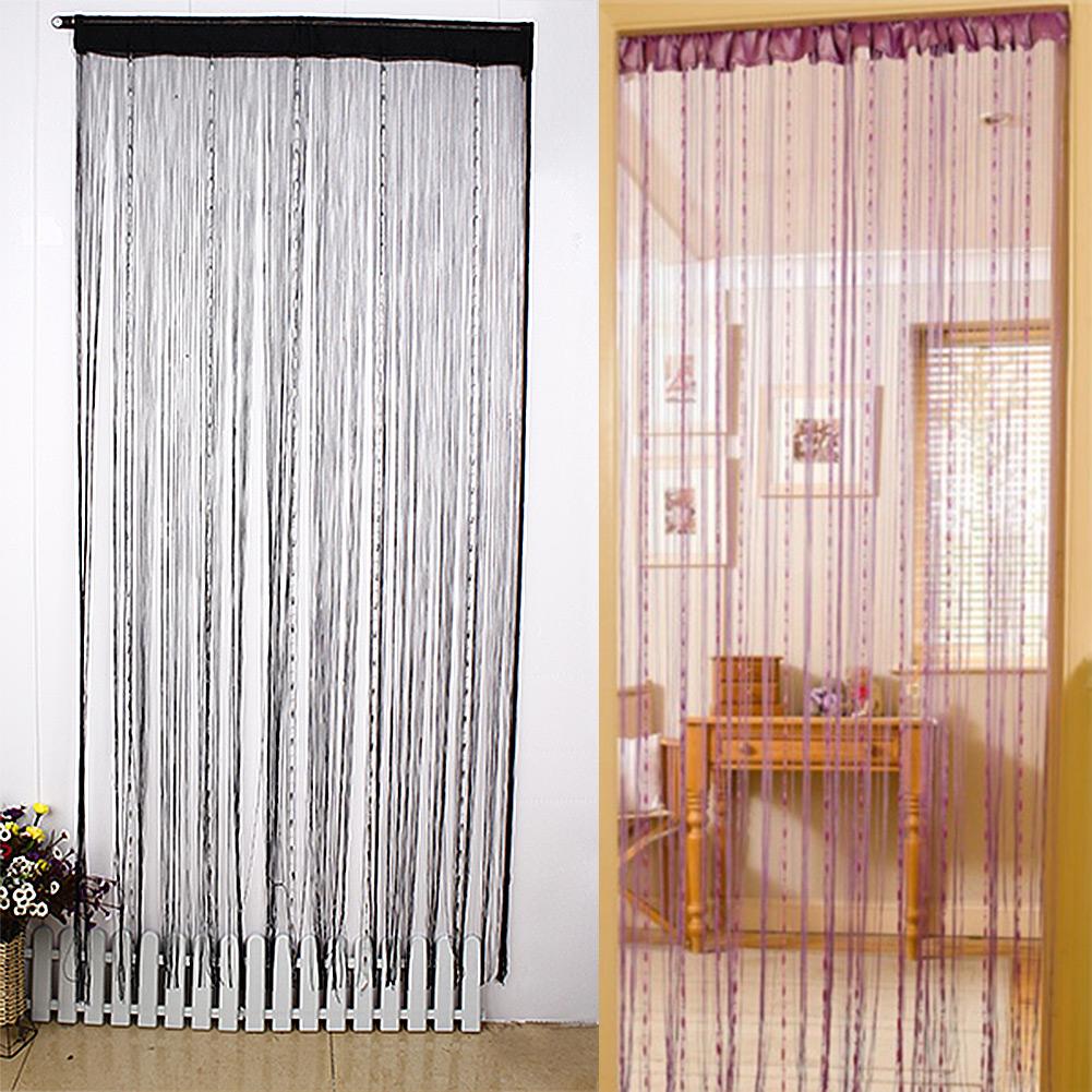 Beaded curtain door