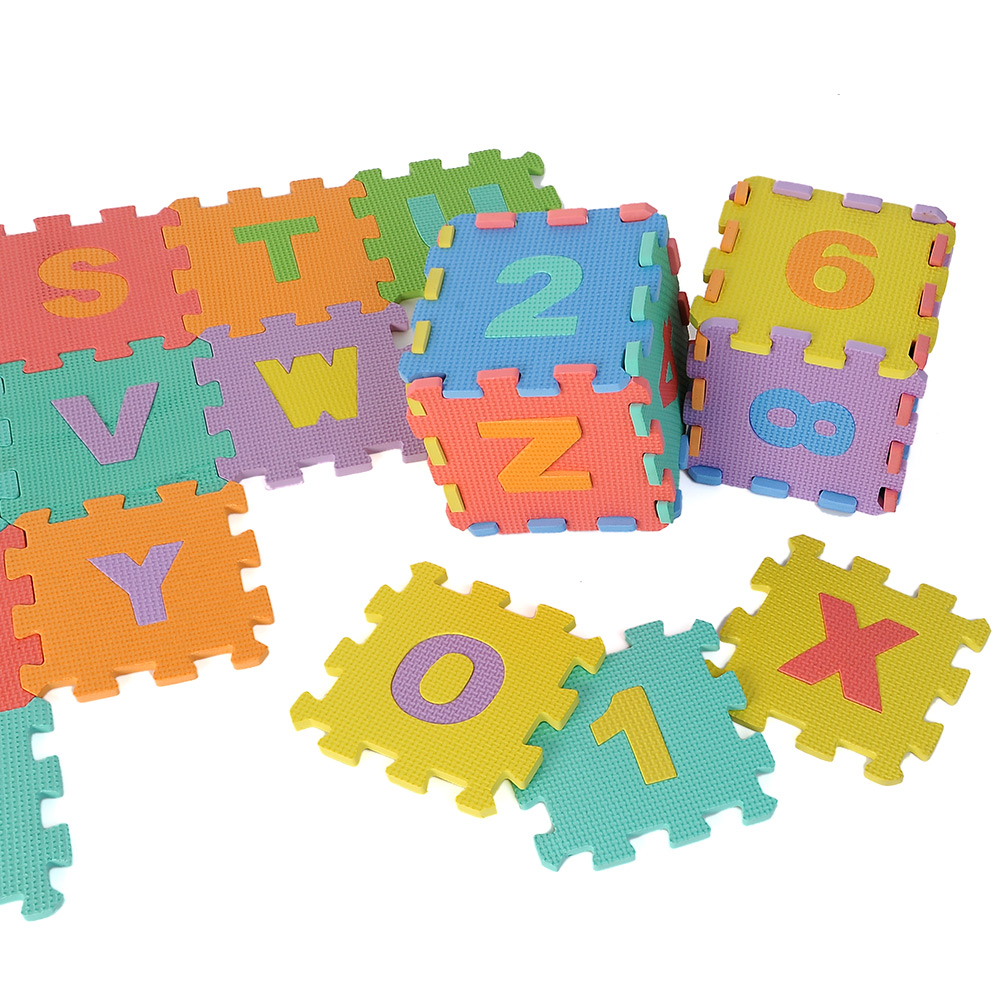 36 Large Interlocking Eva Foam Alphabet Letters Numbers