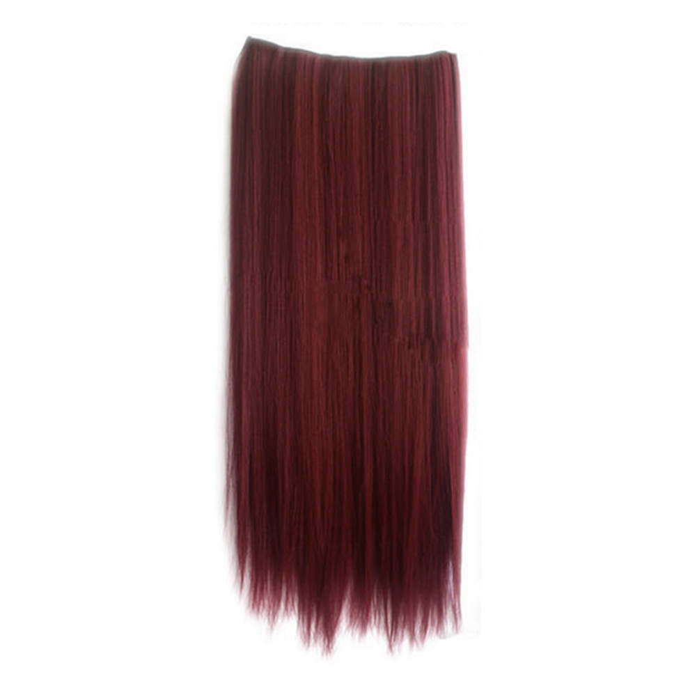1pcs Lady Cosplay Long Straight Curly Synthetic Hair Extension Clip-On