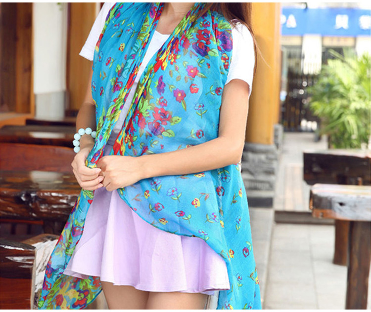 Elegant Fashion Womens Ladies Floral Flower Scarf Shawl Stole Wraps  Scarves