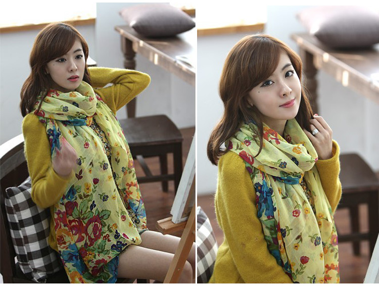 Elegant Fashion Beautiful Womens Ladies Floral Flower Scarf Shawl Wraps