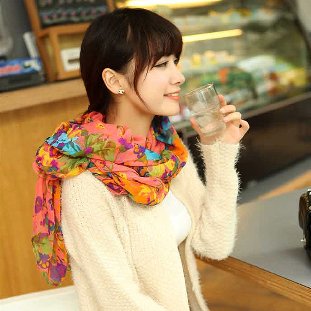 Elegant-Fashion-Womens-Ladies-Floral-Flower-Scarf-Shawl-Stole-Wraps-Scarves