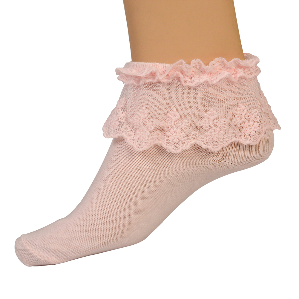 Cute Vintage Lace Ruffle Frilly Ankle Socks Princess Girl ... Ruffled Socks