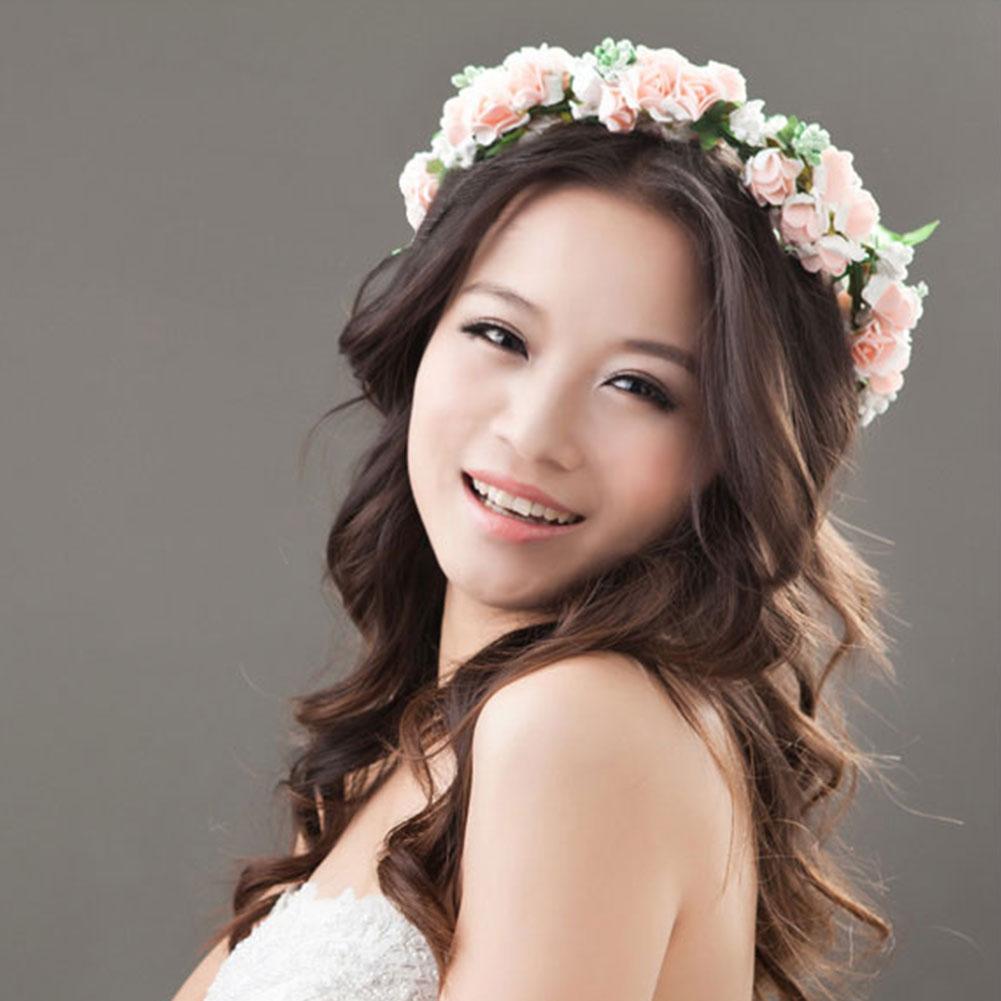 Flower Garland Floral Bridal Headband Hairband Wedding Party Prom