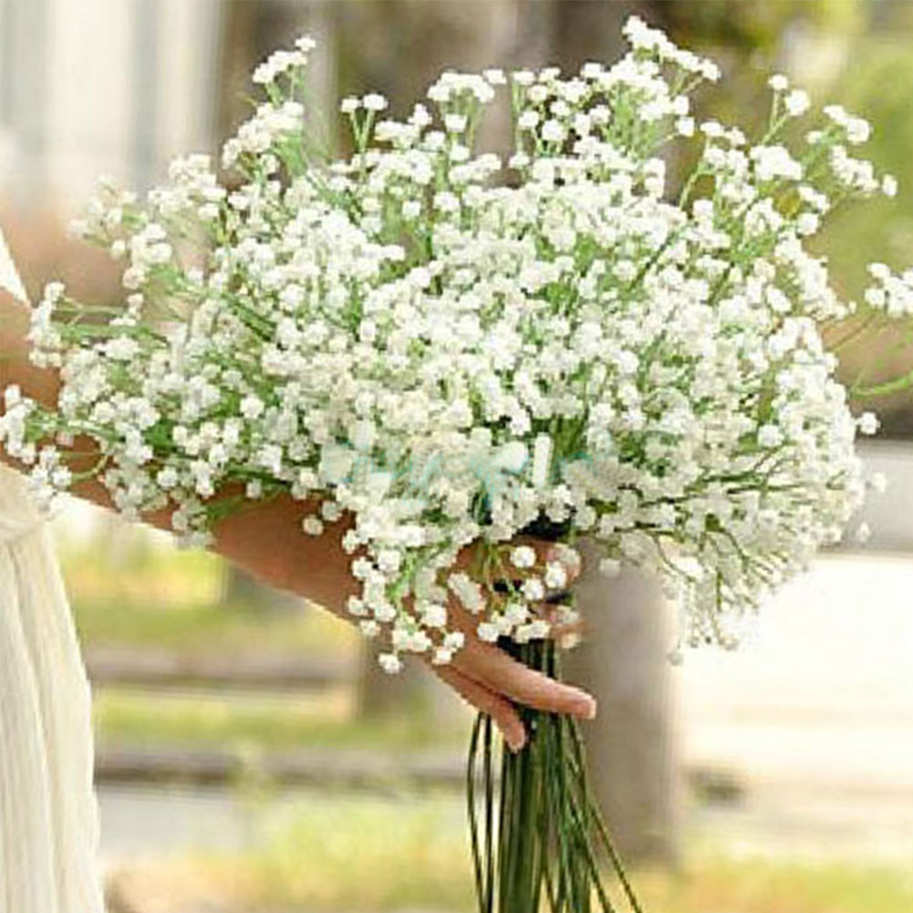 Babys Breath Gypsophila Bouquet White Home Wedding Party Decor EBay
