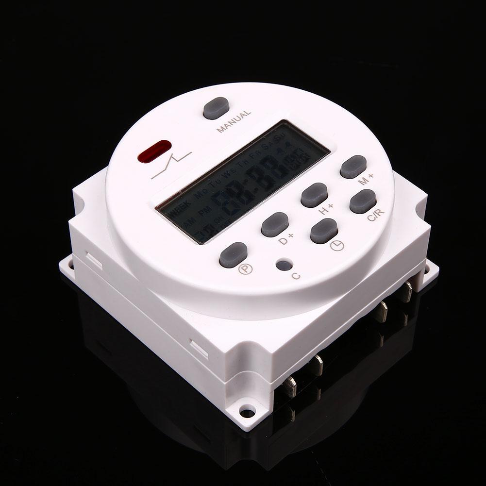 dc 12v 16a lcd digital display power programmierbar timer zeitschaltuhr. Black Bedroom Furniture Sets. Home Design Ideas