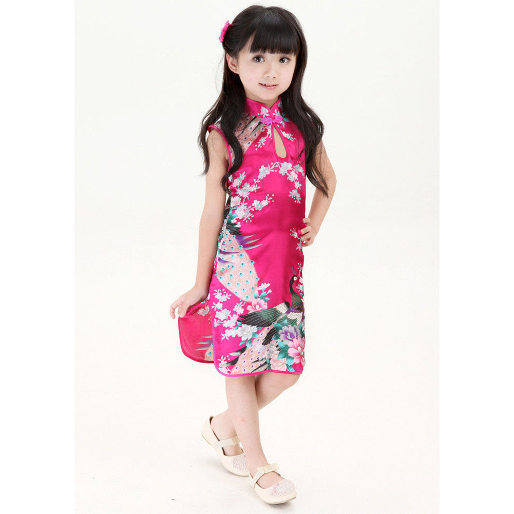 Brand New Stylish Chinese Kid Child Girl Baby Cheongsam Dress Qipao    4~12