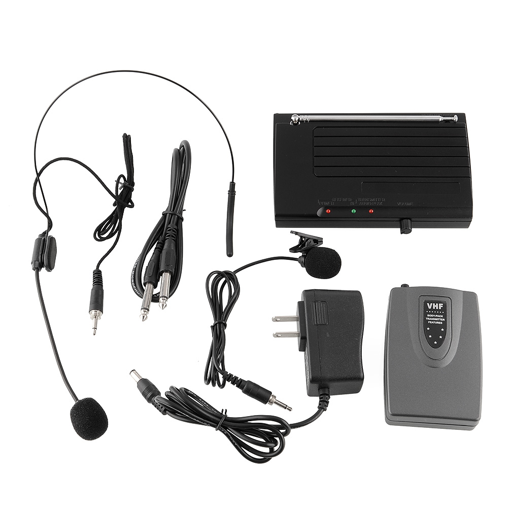 wireless lapel headset microphone system for public speaking singing music ebay. Black Bedroom Furniture Sets. Home Design Ideas