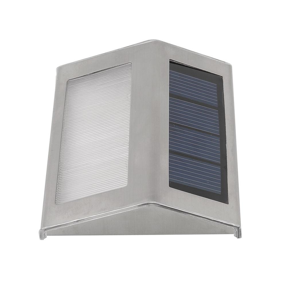 solar led lampe leuchte licht treppe stufen wandleuchten au en garten edelstahl ebay. Black Bedroom Furniture Sets. Home Design Ideas