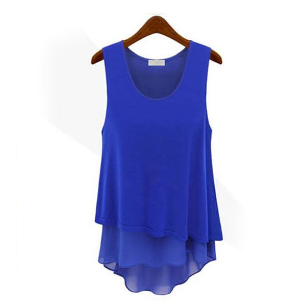 New-SUMMER-WOMEN-LADIES-SLEEVELESS-BLOUSE-CHIFFON-TANK-TOPS-VEST-T-SHIRT