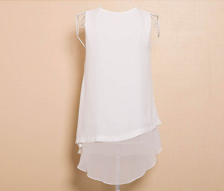 New SUMMER WOMEN LADIES SLEEVELESS BLOUSE CHIFFON TANK TOPS VEST T-SHIRT
