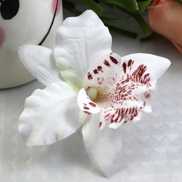 Women-Summer-Hawaii-Style-Beach-Orchid-Bridal-Party-Flowers-Hair-Clips-4colors