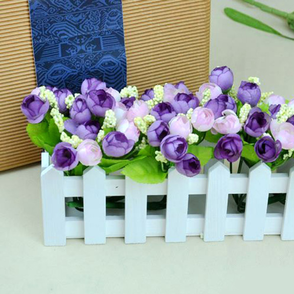 Artificial Roses Flowers Bouquet Home Wedding Festival Decor 15 Heads Bunch