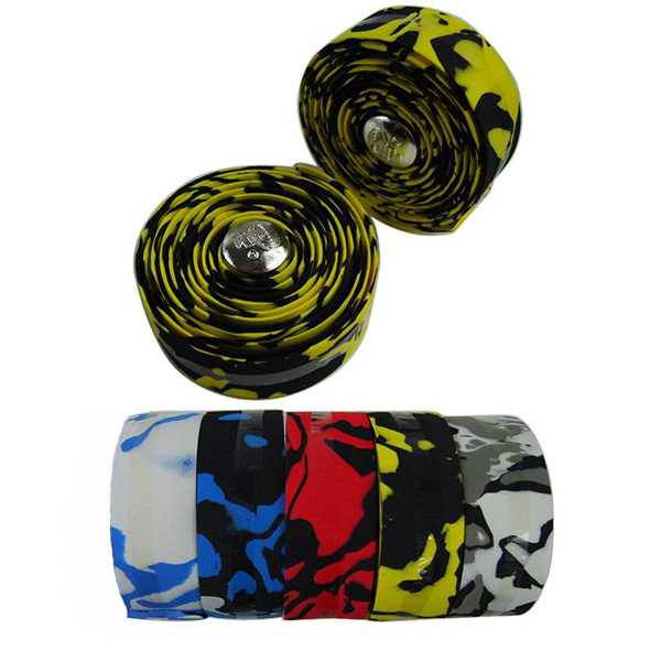 1Pair-Bike-Bicycle-Sport-Handlebar-Cork-Tape-Wrap-2-Bar-Plug-5-Color