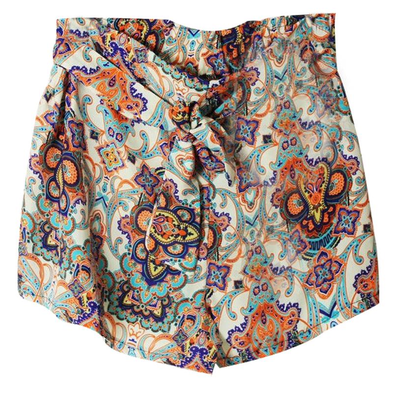 Hot Fashion Women's Lady Elastic Shorts Floral High Waist Skirt Short Pants