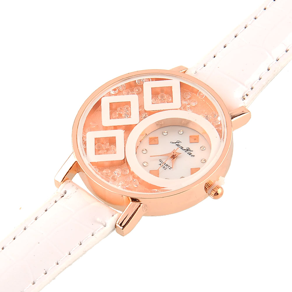 Luxury Women/Ladies/Girls Crystal Leather Band Wrist Watch Jewelry Gift