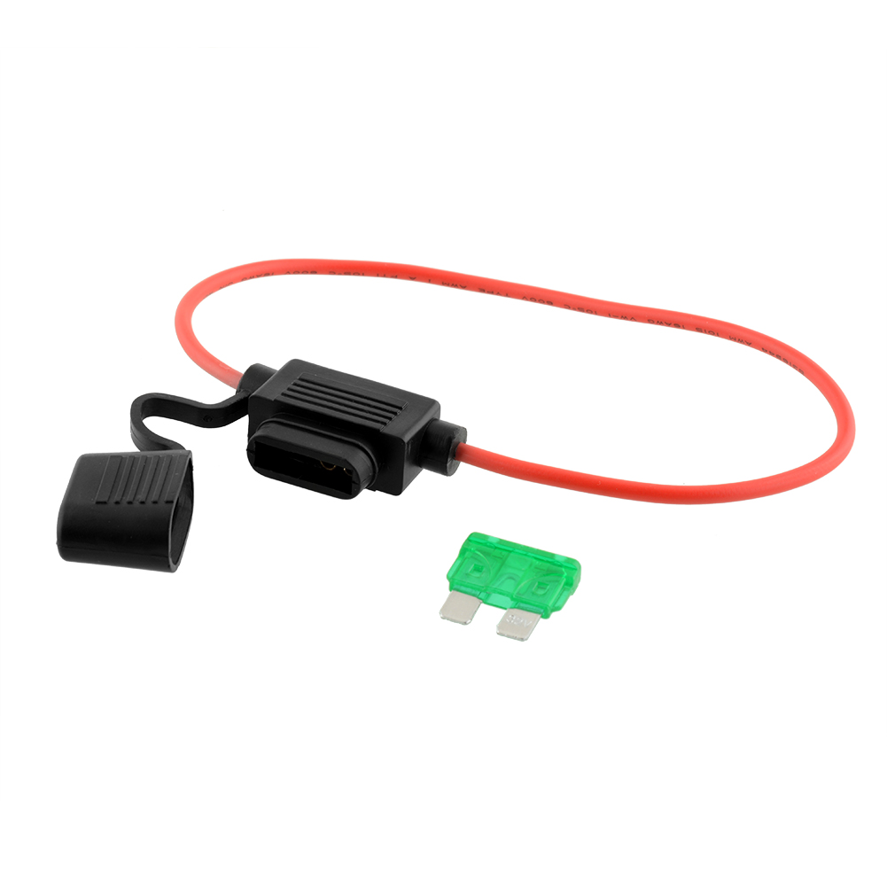 Mini Blade Fuse Holder Wired Led Failure Warning 2v 24v 30a Waterproof