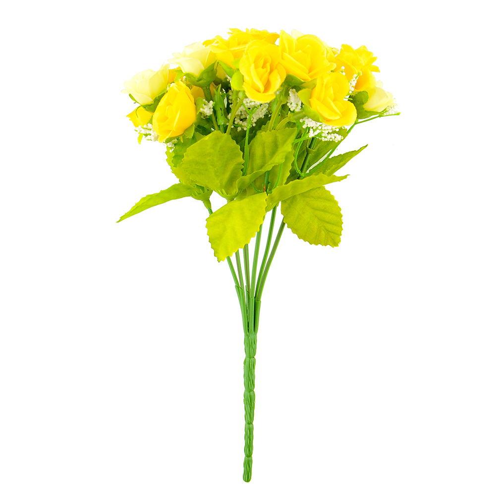 21pcs Artificial Flower Fake Silk Flower Arrangement Wedding Party Home Garden