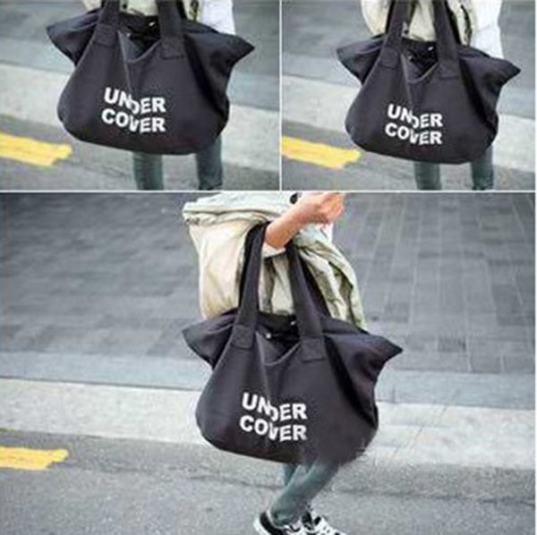 Fashion Women Casual Travel Handbag Letter Printed Logo Shoulder Big Bag White