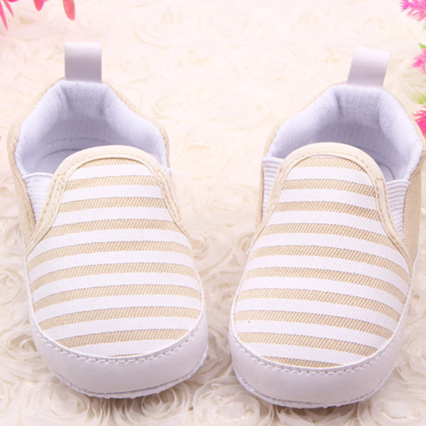 Baby-Kids-Toddler-Unisex-Boys-Girls-Soft-Walkers-Navy-Stripe-Cloth-Shoes