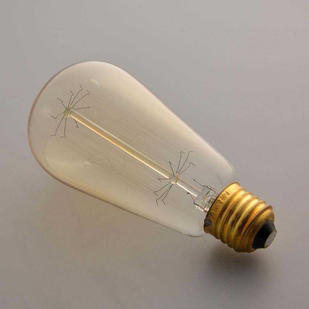 Ceiling Lights With Edison Bulbs : Edison vintage st v w e light ceiling lamp bulb