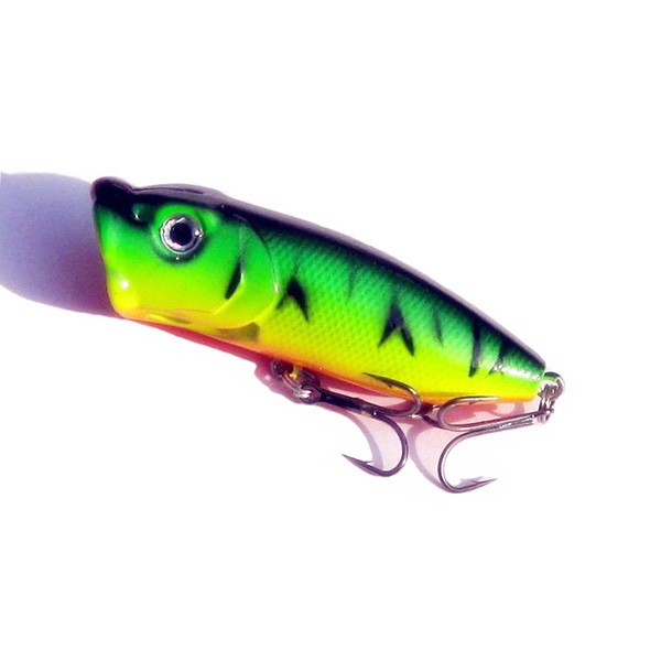 5pcs topwater popper minnow freshwater fishing lures bass for Topwater fishing lures
