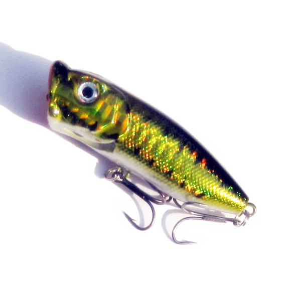 5pcs topwater popper minnow freshwater fishing lures bass for Best bait for freshwater fishing