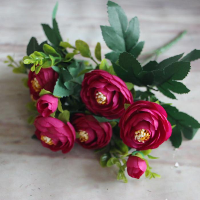 Realistic Artificial Fake Peony Flower Arrangement Room Wedding Decoration