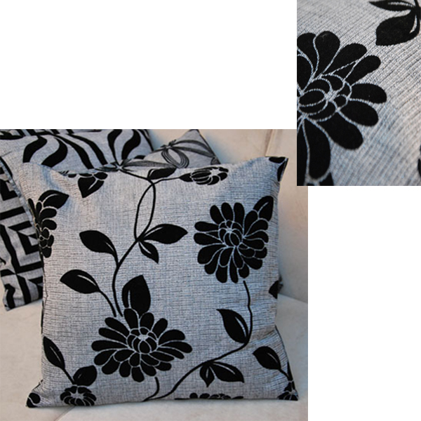 New Soft Luxury Black Grey Throw Pillow Cushion Case Cover Home Sofa Decor Gift eBay