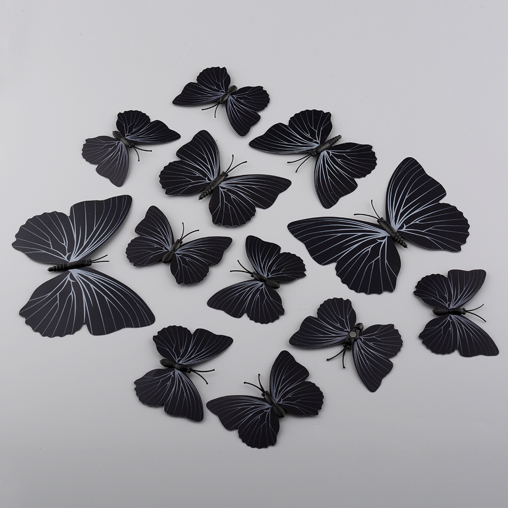 3d butterfly decal wall stickers decor room decorations for 3d butterfly decoration