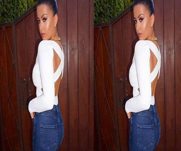 Fashion Women V-neck Sexy Tee Long Sleeve Shirt Backless T-shirt Jumpsuit Hot