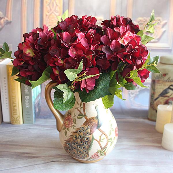 Rose artificial peony flower arrangement floral room for Ikea fleurs artificielles